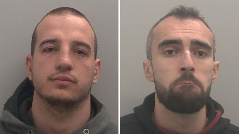 Kristian Romanov (left) and Kristiyan Hristev have both been sentenced to jail terms