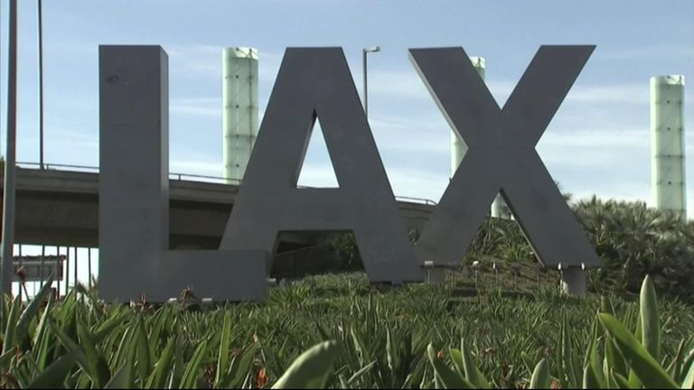 LAX Airport, Los Angeles, California.