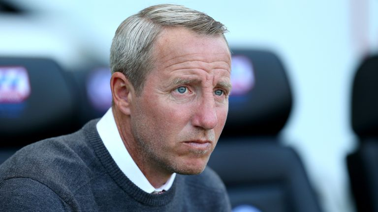 Lee Bowyer manager of Charlton Athletic looks on during the Sky Bet Championship match between Wigan Athletic and Charlton Athletic at DW Stadium on September 21, 2019 in Wigan