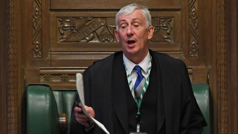 Speaker Sir Lindsay Hoyle. Pic: UK Parliament