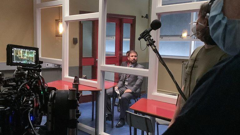 Steve Arnott as DS Steve Arnott in Line Of Duty as filming resumes on series six. Pic: BBC