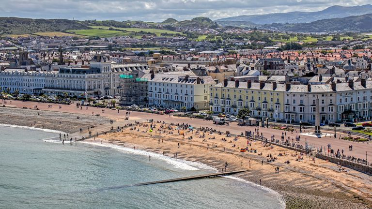 Llandudno in Conwy will be one of the many places affected