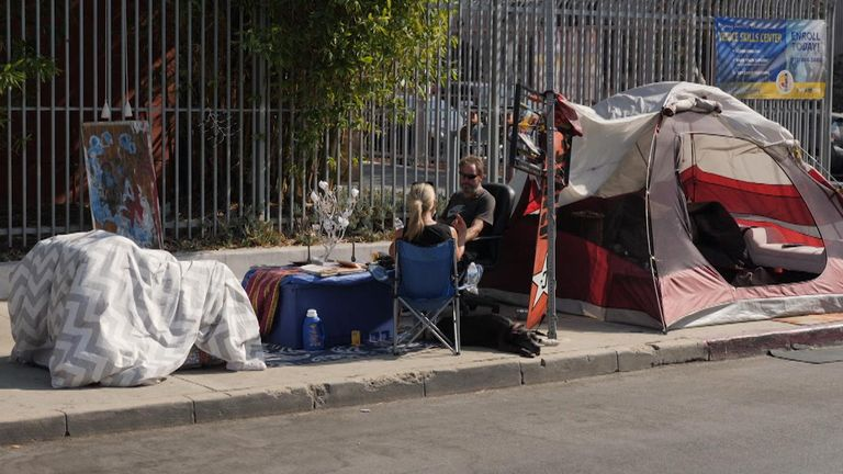 LA residents have started leaving as homeless camps have increased following the pandemic, with unemployment hitting 20%