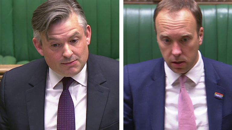Labours Jonathan Ashworth quizzes Health Secretary Matt Hancock