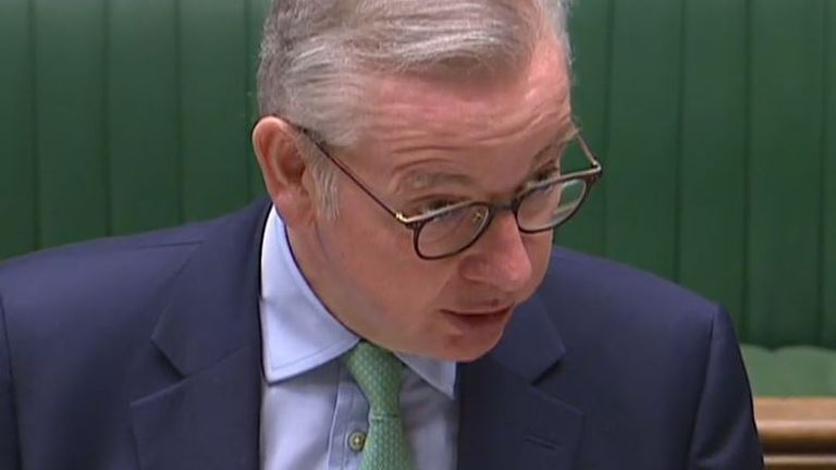 Michael Gove addresses the Commons