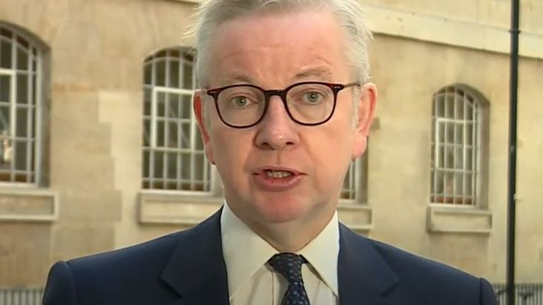 Michael Gove says there will be a shift in emphasis to working from home