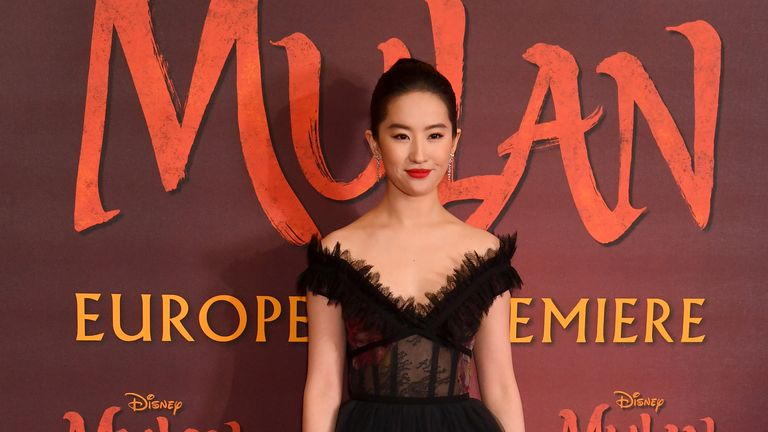 Mulan actress Liu Yifei has shown public support for Hong Kong police