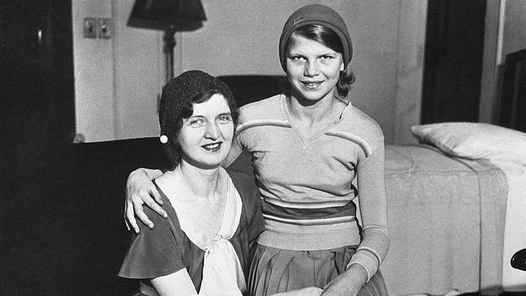 Nan Britton is seen with her daughter Elizabeth Ann Blaesing