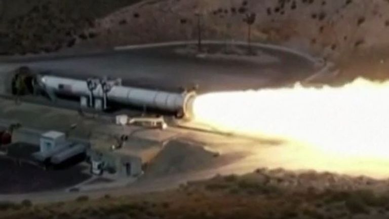 NASA tests its Space Launch System in Utah