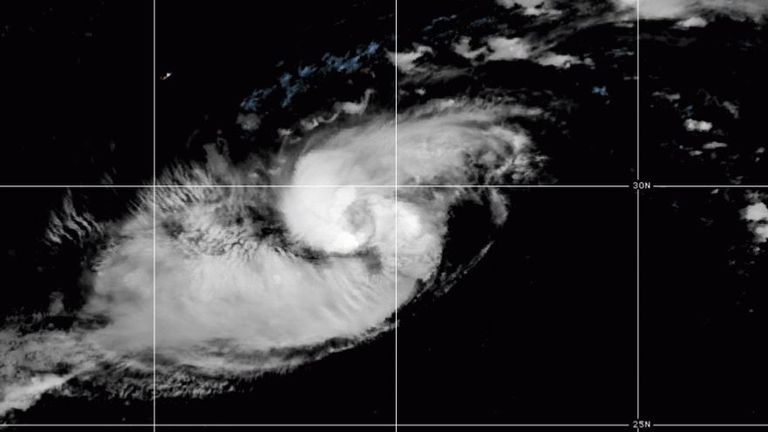 Hurricane Paulette was carrying top sustained winds of 75mph (120kph). Pic: National Hurricane Center/Twitter