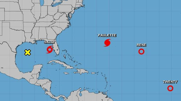 Hurricane Paulette is expected to hit Bermuda on Sunday evening. Pic: National Hurricane Center