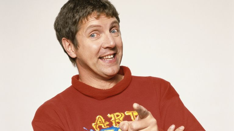 British television presenter Neil Buchanan of the series 'Art Attack', circa 1990