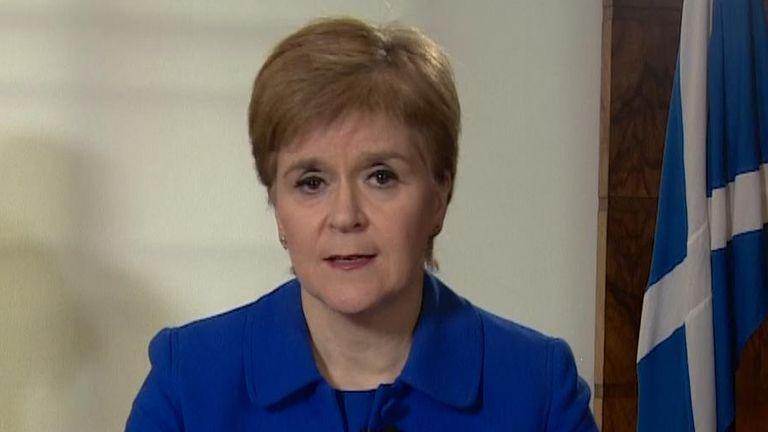 Nicola Sturgeon's address to the nation