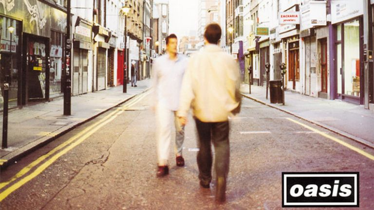 Cover of Oasis' second album (What's The Story) Morning Glory?,  designed by Brian Cannon at Microdot