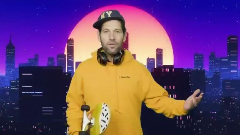 Actor Paul Rudd pleads with 'millenials'  to wear a face mask in order to prevent the spread of coronavirus and save lives.
