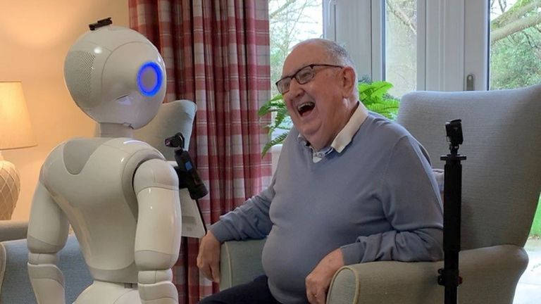 The robot is able to keep up conversation