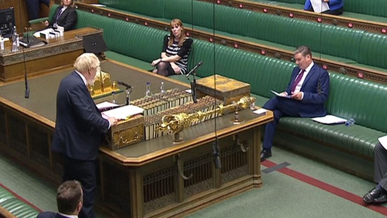Boris Johnson and Keir Starmer clashed at the first PMQs after the autumn recess,