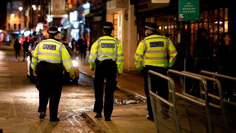 Police on patrol in London
