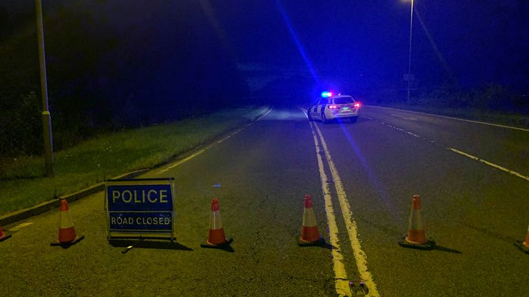 Policing Fenland posted this image on their Facebook page of the scene of an accident in which a man and woman died in a head-on crash with a car and a van. Pic: Facebook / Policing Fenland