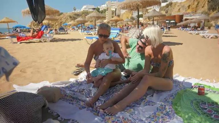 The Ashford family on holiday in Albufeira, in Portugal's Algarve