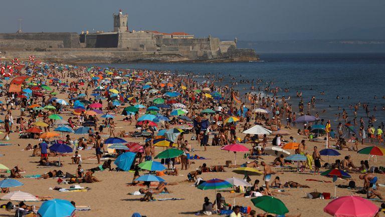 Carcavelos beach near Lisbon
