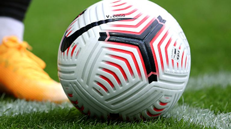 A Premier League ball during Newcastle's game with Brighton. File pic