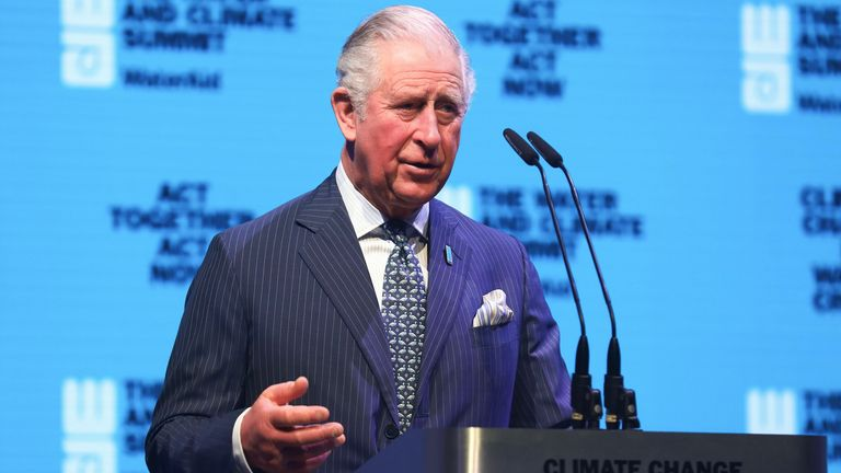 Prince Charles at the WaterAid water and climate event in March