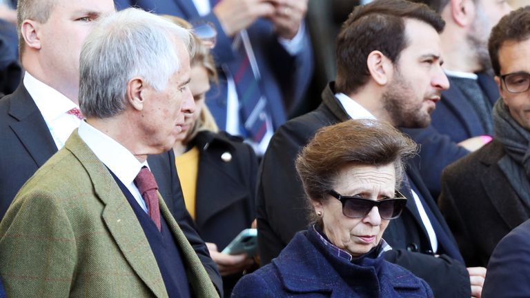 Princess Anne took a charter flight costing £16,440 so she could fly to Rome to watch Scotland play rugby