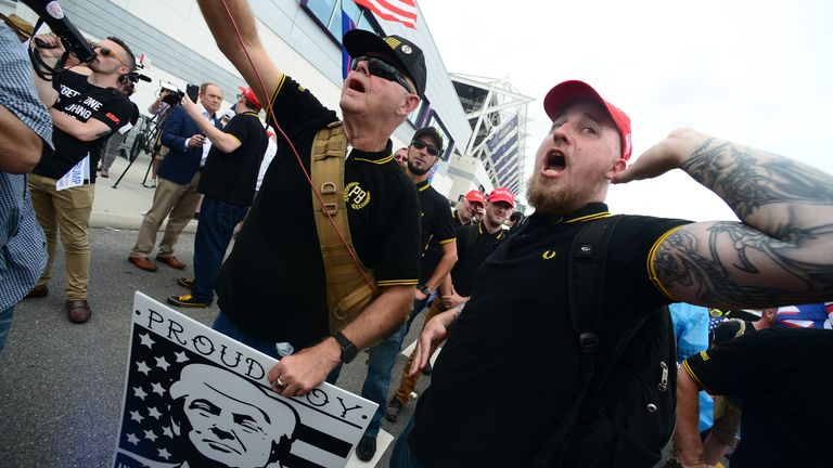 Violent right-wing group the Proud Boys have adopted the shirts