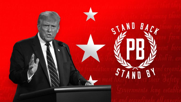Donald Trump mentioned the Proud Boys, a far-right group involved in violent incidents, during the first presidential debate