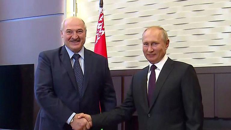 President Lukashenko with Russia's Vladimir Putin