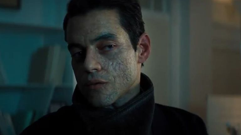 Many are eagerly awaiting Rami Malek's performance as villain Safin. Pic: Universal