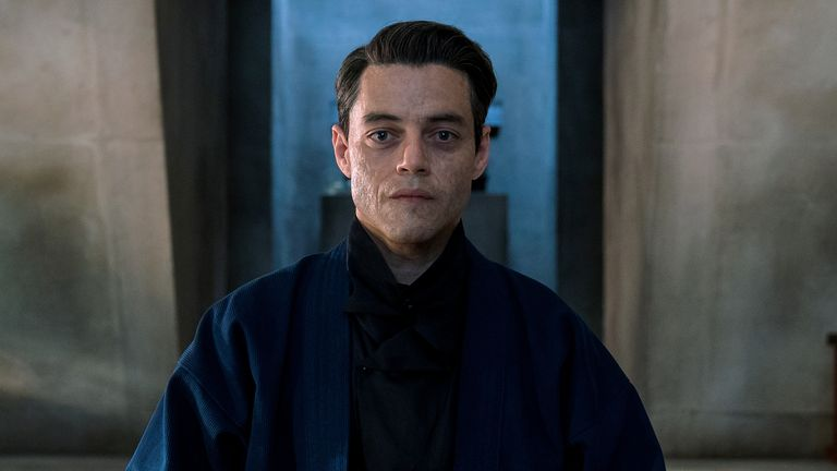 Rami Malek as Safin in No Time To Die. Pic: Nicola Dove