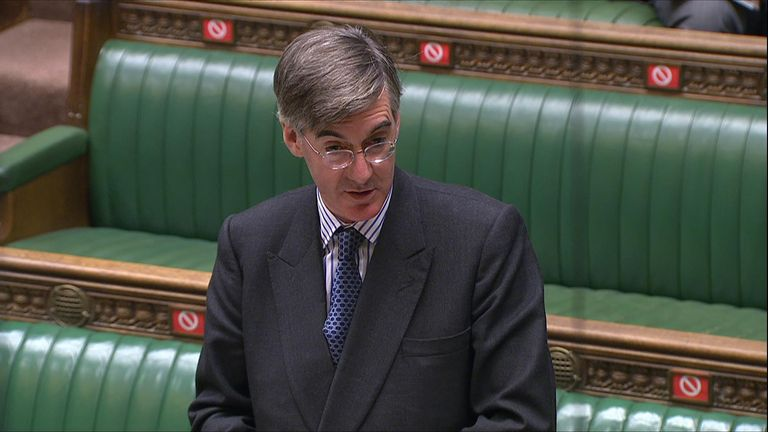 Jacob Rees-Mogg said people speaking about the difficulty of getting a COVID-19 should stop their 'endless carping'