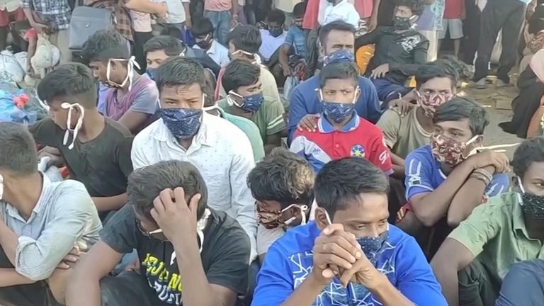 Almost 300 Rohingya refugees found on a beach in Indonesia