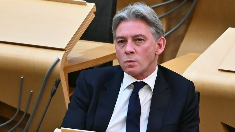 Scottish Labour leader Richard Leonard during the Stage 3 (final) stage of the Budget, on March 5, 2020 in Edinburgh, Scotland