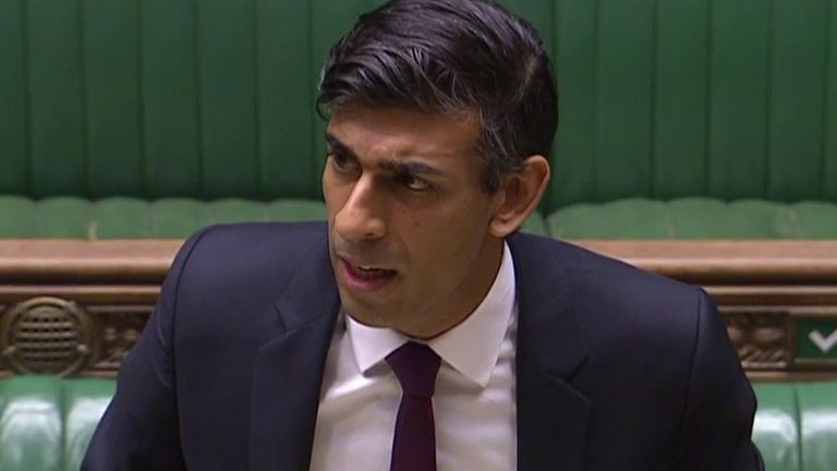 Rishi Sunak sends a statement on coronavirus measures to the House of Commons