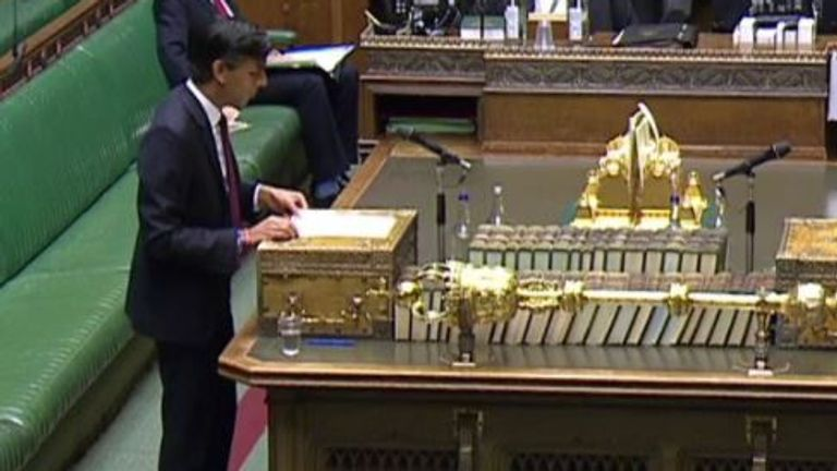 Rishi Sunak announces job support scheme in parliament