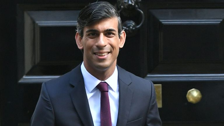 Chancellor of the Exchequer Rishi Sunak outside No 11 Downing Street, London, before heading for the House of Commons to give MPs details of his Winter Economy Plan.
