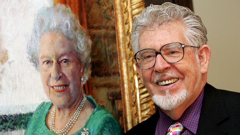 Rolf Harris was stripped of his CBE in 2015, a year after painting the Queen's portrait