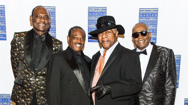 Ronald Bell (far right) and the rest of Kool & The Gang in 2019