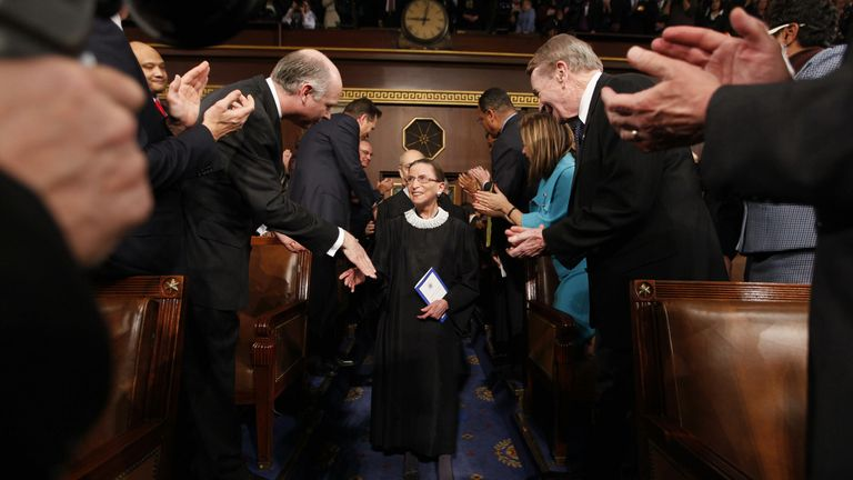 Associate Supreme Court Justice Ruth Bader Ginsburg in 2009