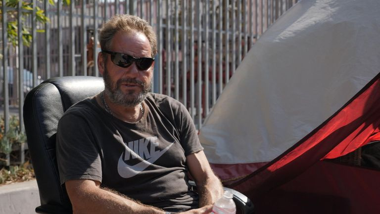 Scott Campbell used to have a mortgage but now lives in a tent
