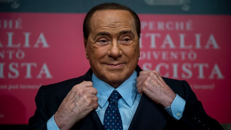 Silvio Berlusconi at a book launch in December