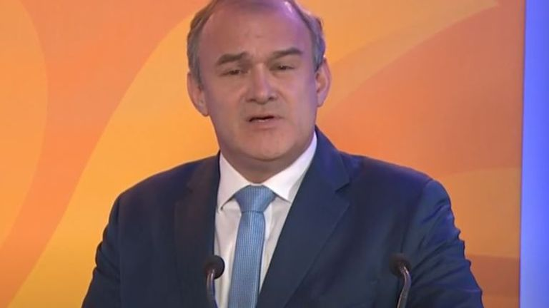 Sir Ed Davey tells the Liberal Democrat conference that he will be the voice of carers