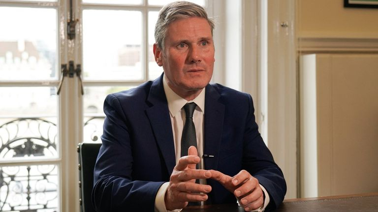 Sir Keir Starmer makes a Labour Party broadcast in response to Boris Johnson's address to the nation