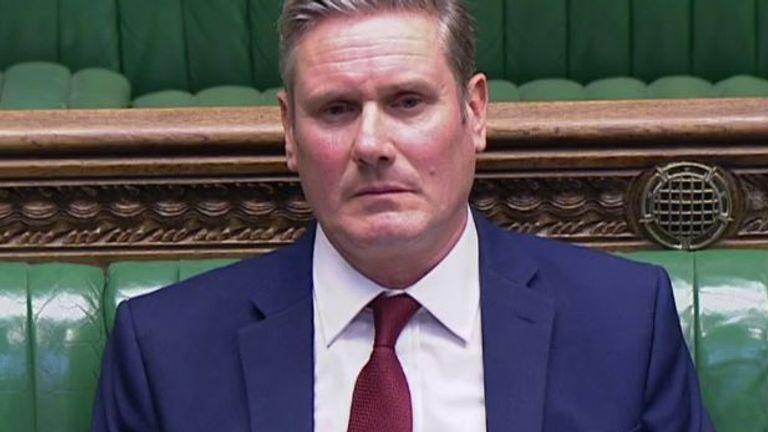 Sir Keir Starmer pushes the prime minister for an explanation over coronavirus testing