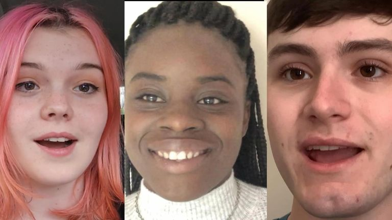 Three students recorded video diaries for Sky News about their feelings and first impressions arriving at university for freshers' week.