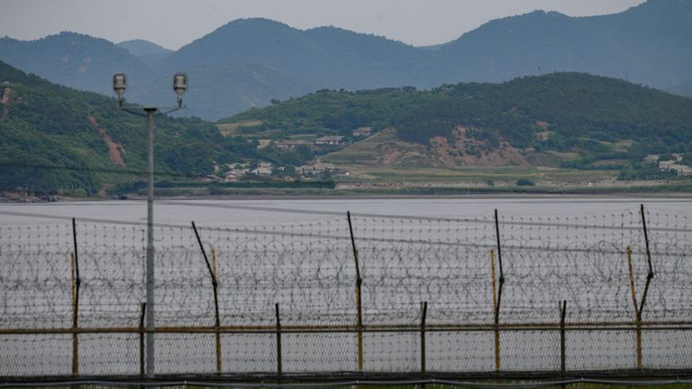 The demilitarised zone separating North and South Korea