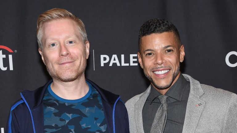 Anthony Rapp (L) and Wilson Cruz are the first married gay characters on Star Trek